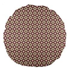 Cute Pretty Elegant Pattern Large 18  Premium Flano Round Cushions by creativemom