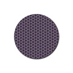 Cute Pretty Elegant Pattern Rubber Coaster (Round)  by creativemom