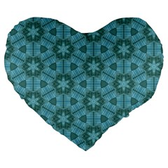 Cute Pretty Elegant Pattern Large 19  Premium Flano Heart Shape Cushions