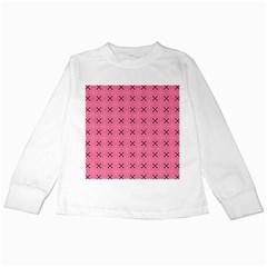 Cute Pretty Elegant Pattern Kids Long Sleeve T Shirts by creativemom