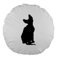 Cornish Rex Silo Large 18  Premium Round Cushions by TailWags