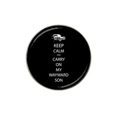 Keep Calm And Carry On My Wayward Son Golf Ball Marker (for Hat Clip) by TheFandomWard
