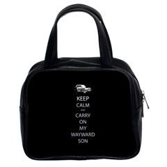 Keep Calm And Carry On My Wayward Son Classic Handbag (two Sides) by TheFandomWard