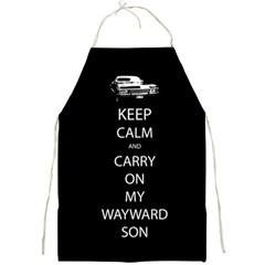 Keep Calm And Carry On My Wayward Son Apron by TheFandomWard