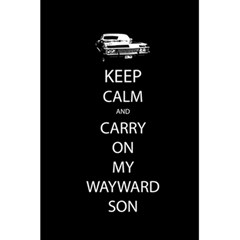 Keep Calm And Carry On My Wayward Son Notebook by TheFandomWard