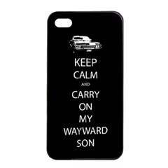 Keep Calm And Carry On My Wayward Son Apple Iphone 4/4s Seamless Case (black)