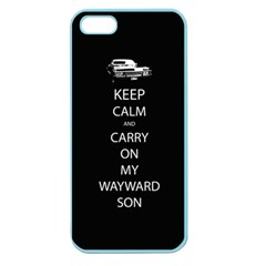 Carry On Centered Apple Seamless Iphone 5 Case (color) by TheFandomWard