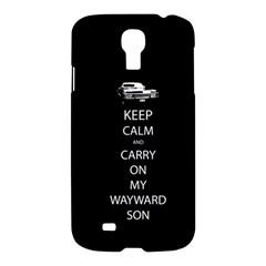 Keep Calm And Carry On My Wayward Son Samsung Galaxy S4 I9500/i9505 Hardshell Case by TheFandomWard