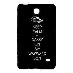 Keep Calm And Carry On My Wayward Son Samsung Galaxy Tab 4 (8 ) Hardshell Case  by TheFandomWard