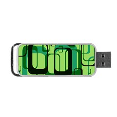 Retro Pattern 1971 Green Portable Usb Flash (two Sides) by ImpressiveMoments