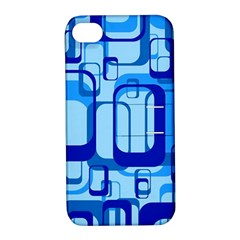 Retro Pattern 1971 Blue Apple iPhone 4/4S Hardshell Case with Stand by ImpressiveMoments
