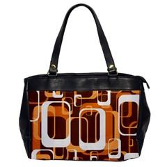 Retro Pattern 1971 Orange Office Handbags by ImpressiveMoments