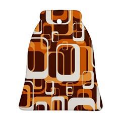 Retro Pattern 1971 Orange Bell Ornament (2 Sides) by ImpressiveMoments