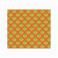70s Green Orange Pattern Collage 12  X 18  by ImpressiveMoments