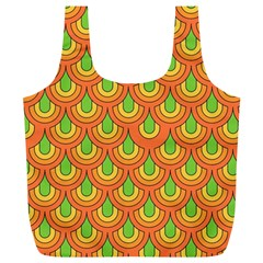 70s Green Orange Pattern Full Print Recycle Bags (l)  by ImpressiveMoments