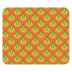 70s Green Orange Pattern Double Sided Flano Blanket (small)  by ImpressiveMoments