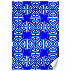 Retro Blue Pattern Canvas 12  X 18   by ImpressiveMoments