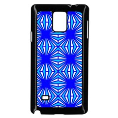 Retro Blue Pattern Samsung Galaxy Note 4 Case (black) by ImpressiveMoments