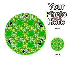 Retro Green Pattern Playing Cards 54 (round)  by ImpressiveMoments
