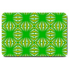 Retro Green Pattern Large Doormat  by ImpressiveMoments