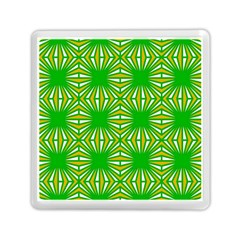 Retro Green Pattern Memory Card Reader (square)  by ImpressiveMoments