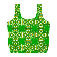 Retro Green Pattern Full Print Recycle Bags (l)  by ImpressiveMoments