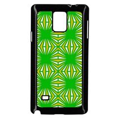 Retro Green Pattern Samsung Galaxy Note 4 Case (Black) by ImpressiveMoments