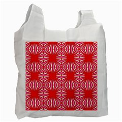 Retro Red Pattern Recycle Bag (one Side) by ImpressiveMoments