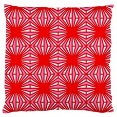 Retro Red Pattern Large Flano Cushion Cases (Two Sides)  by ImpressiveMoments