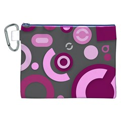 Grey Plum Abstract Pattern  Canvas Cosmetic Bag (XXL)  by OCDesignss