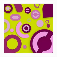 Florescent Yellow Pink Abstract  Medium Glasses Cloth (2 Side) by OCDesignss