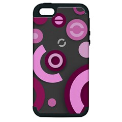 Pink Purple Abstract Iphone Cases  Apple Iphone 5 Hardshell Case (pc+silicone) by OCDesignss