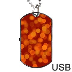 Modern Bokeh 12 Dog Tag Usb Flash (one Side) by ImpressiveMoments