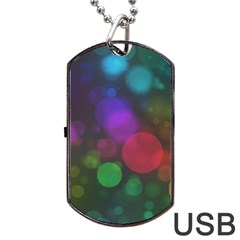 Modern Bokeh 15 Dog Tag USB Flash (Two Sides)  by ImpressiveMoments