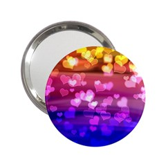 Lovely Hearts, Bokeh 2 25  Handbag Mirrors by ImpressiveMoments