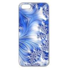 Special Fractal 17 Blue Apple Seamless Iphone 5 Case (clear) by ImpressiveMoments