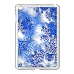 Special Fractal 17 Blue Apple iPad Mini Case (White) by ImpressiveMoments