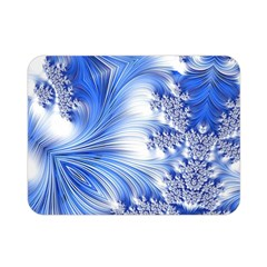 Special Fractal 17 Blue Double Sided Flano Blanket (mini)  by ImpressiveMoments
