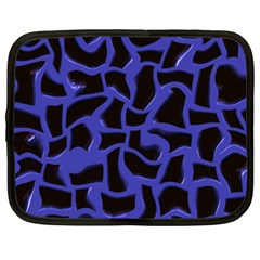 Purple Holes Netbook Case (xxl) by LalyLauraFLM