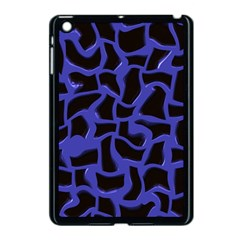 Purple holes Apple iPad Mini Case (Black) by LalyLauraFLM