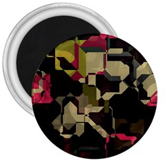 Techno Puzzle 3  Magnet by LalyLauraFLM