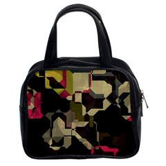 Techno Puzzle Classic Handbag (two Sides) by LalyLauraFLM