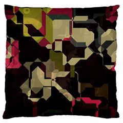 Techno Puzzle Large Cushion Case (two Sides) by LalyLauraFLM