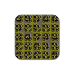 Plastic Shapes Pattern Rubber Square Coaster (4 Pack) by LalyLauraFLM