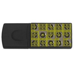Plastic Shapes Pattern Usb Flash Drive Rectangular (4 Gb) by LalyLauraFLM