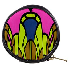 Distorted Symmetrical Shapes Mini Makeup Bag by LalyLauraFLM