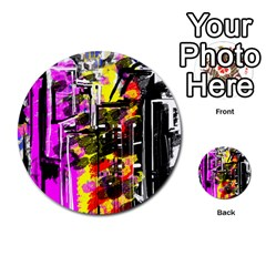 Abstract City View Multi Purpose Cards (round)  by theunrulyartist