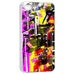 Abstract City View Apple Iphone 4/4s Seamless Case (white) by theunrulyartist