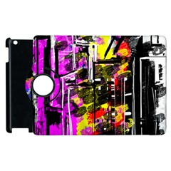 Abstract City View Apple Ipad 2 Flip 360 Case by theunrulyartist