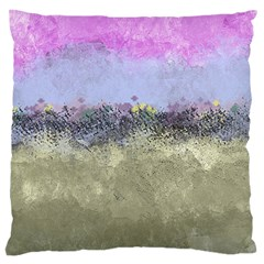 Abstract Garden In Pastel Colors Large Cushion Cases (two Sides)  by theunrulyartist